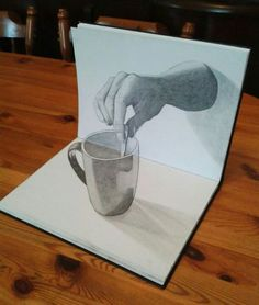 3D Drawing - just, wow... And it's only with a pencil and some paper!!! ~M                                                                                                                                                      More