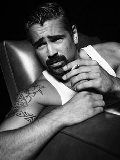 Colin Farrell...one of the few men that still looks sexy holding a cigarette...
