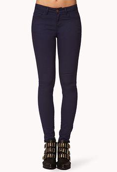 Ankle Length Denim Skinny Jeans | FOREVER 21 - 2019572717