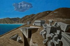 brent wong artist - Google Search New Zealand Landscape, Nz Art, Landscape Artwork, Art Boards, Surrealism, Mount Rushmore, Clouds, Mountains, Artworks