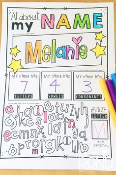 Freebie: Back to School with Names. Grab this great free resource to use as students head back to school. Perfect name/letter activity for students in a special education classroom. Kindergarten Names, Preschool Names, Kindergarten Classroom, Kindergarten Activities, Classroom Activities, Kindergarten Graduation, School Classroom, Get To Know You Activities, First Day Activities