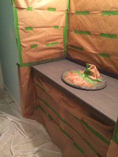 Bathroom Spray Painted Countertops - Newman's Nest Send Your Loved One Flowers. Spray Paint Countertops, Painting Countertops, Stone Countertops, Bathroom Counter Decor, Bathroom Furniture, Bathroom Ideas, Downstairs Bathroom, Bathroom Cabinets, Small Bathroom