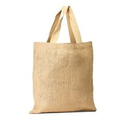 """•The material is eco-friendly; it can be recycled and reused. •100% Organic made of vegetable fiber •Natural Grocery Tote •Strong, Durable with cotton webbed handles. •Color: Natural •Size: 16""""W x 15""""H"""