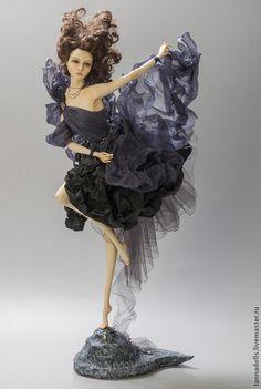 """Удивительная авторская кукла """"Танцующие с ветром. Буря"""" — работа дня на Ярмарке Мастеров. Handmade. #artdoll #ooak"""