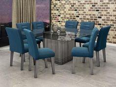 Conjunto de Mesa 8 Cadeiras Movale - Vegas com as melhores condições você encontra no Magazine Siarra. Confira!