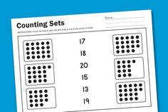 Free Counting Worksheet
