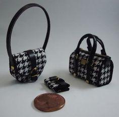 Miniaturas bolsos: Bolsos con estampado pata de gallo