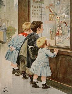 Άννα Αγγελοπούλου: Τα φτωχά παιδιά των δρόμων μπροστά σε βιτρίνες παιχνιδιών. Εικόνες φτώχειας και παιδικής εργασίας από πίνακες ζωγραφικής και παλιές φωτογραφίες της Βικτωριανής εποχής
