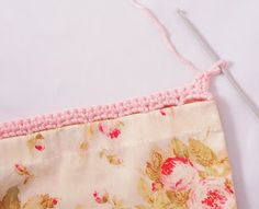 Heidi Bears: Super Easy Pillow Case with Crocheted Edging