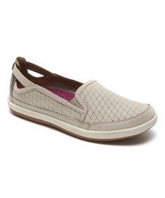 Taupe Zahara Leather Slip-On Sneaker