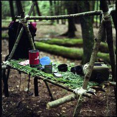 Mesa de campamento