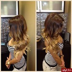 ombre hair so pretty!! blonde