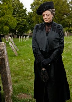 Downton Abbey Lady Sybil's Funeral - Dowager Countess Grantham