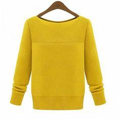 Yellow pullovers Solid regular sleeve long sleeve o-neck fashion regular