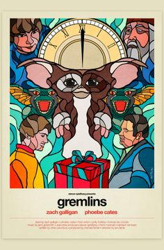 Stained Glass 80's Movie Posters - Gremlins