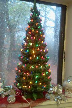 ceramic, ceramic christmas trees, hand made ceramic Vintage Ceramic Christmas Tree, Tabletop Christmas Tree, Christmas Tree Themes, Christmas Things, Christmas Past, Modern Christmas, Retro Christmas, Christmas Carol, Xmas Tree