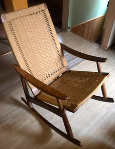 Vintage Hans Wegner Style Rope Rocking Chair | chairs, recliners | City of Toronto | Kijiji