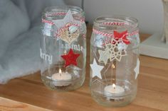 60 Smart DIY ideas with amazing lanterns and candleholders for Christmas Homemade Christmas, Christmas Crafts, Crafts From Recycled Materials, Christmas Time Is Here, Christmas Wonderland, Theme Noel, Bottles And Jars, Diy For Girls, House Warming