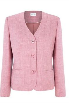 Carnation Pink Textured Jacket