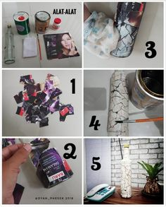 Diy bottle decoupage @dyah_phesek 2018