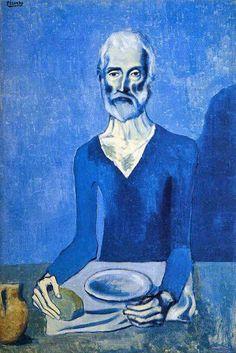 Pablo Picasso「The Acestic(El Asceta)」(1903)