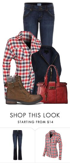 """""""Untitled #13477"""" by nanette-253 ❤ liked on Polyvore featuring Hudson Jeans, LE3NO and FOSSIL"""