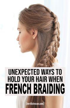 French Braiding Tips Braiding Your Own Hair, Braids For Long Hair, How To Make Braids, New Hair, Your Hair, Cute Braided Hairstyles, Step By Step Hairstyles, French Braids, Video Tutorials