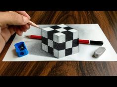 3D Trick Art on Paper, Floating chess - YouTube
