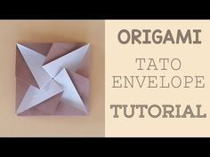 Difficulty: 🌕 🌑 🌑 🌑 🌑 (Easy) In this video I show you how to fold this traditional Origami Tato (envelope). Origami Design, Diy Origami, Origami Tutorial, Origami Simple, Envelope Tutorial, Origami Star Box, Origami Love, Useful Origami, Origami Paper