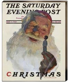 Christmas 1927 Norman Rockwell Santa Holding Little Boy   Canvas Giclee Prnt 22x16…Norman Rockwell Saturday Evening Post cover, Dec 03, 1927.  Museum Wrapped Stretched Canvas Ready to Hang With or Without Additional Framing