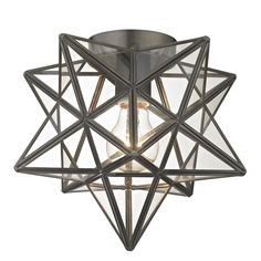 Moravian 1 Light Flush Mount