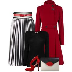"""""""Ever so classic in black, white, & red..."""" by jvs8384 on Polyvore"""