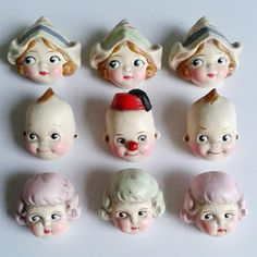 Doll Brooches by Dottie Dollie