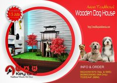 Asian Traditional Wooden Dog House Rumah Jepang I