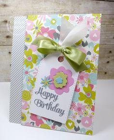 Card by PS DT Karolyn Loncon using PS Happy Birthday, Flower dies