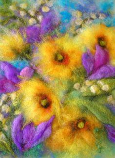 Blumenbilder - Farbträume - Schönheit für die Sinne Märchenwolle Nadelfilzen Filzen