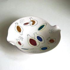 Handpainted modernist bowl