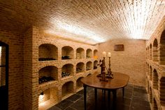 Villabouw Vlassak Verhulst, the wine cellar..