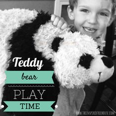 "Maybe you need just one more movement activity to wear those kiddos out before bed!  This one will do it but, fair warning, it may get a little rowdy too!  This activity for kids is based on the song by Hap Palmer and is called ""Teddy Bear Playtime"".  #bedtimesong #teddybear #song #musicforkids"