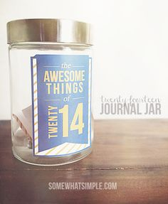 Such a great way to remember all the awesome things that will happen in 2014! Download this journal jar kit for free! Includes label and journaling cards.