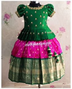 Mom And Baby Dresses, Kids Party Wear Dresses, Kids Dress Wear, Kids Gown, Dresses Kids Girl, Baby Frocks Designs, Kids Frocks Design, Traditional Dresses For Kids, Baby Girl Lehenga