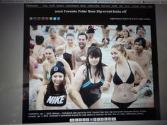 2016 Toronto Polar Bear Dip.  How does a Canadian Polar Bear Dip get followed by the Chinese Media & Britt & Jon end up in their pics. Journalism, Polar Bear, Brittany, Dip, Toronto, Chinese, Social Media, Entertaining, Health