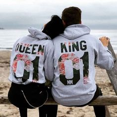 Cute Couple Hoodies, Power Couple Quotes, Rose T Shirt, Cute Love Couple, King Queen, Disney Art, Partner, Cute Gifts, Graphic Sweatshirt