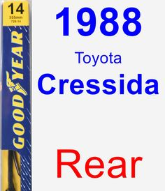 Rear Wiper Blade for 1988 Toyota Cressida - Premium