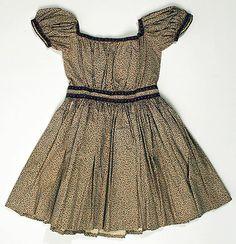 antique calico child's dress ... c. 1860