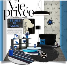 """Blue & Black"" by natsuko333 ❤ liked on Polyvore"