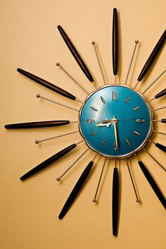 Lux Sunburst Clock (138/365) by aabbbiee, via Flickr