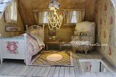 """My new dollhouse is called """"A Place to Create."""" It was commissioned by Deby.    Like the last dollhouse( La Maison de Ville ), it's another ..."""