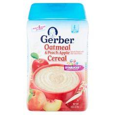 Gerber Oatmeal & Peach Apple Cereal Sitter 8oz
