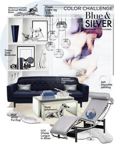 """""""Blue & Silver Home Decor!"""" by sg-art on Polyvore"""